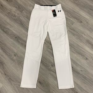 Under Armour Casual White Athletic Unisex Jogger Track Pants
